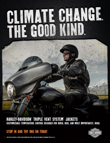 Harley Davidson introduce new styles to thier Triple Vent System jacket range