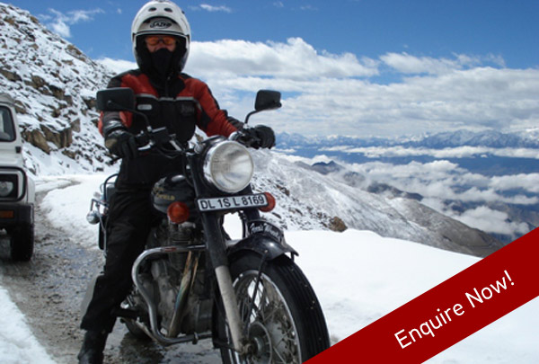 Three week motor-cycle tour on top of the world through India with Ferris Wheels