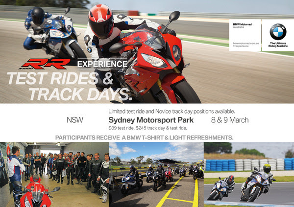 Test ride a BMW S 1000 RR at Sydney Motorsport Park!