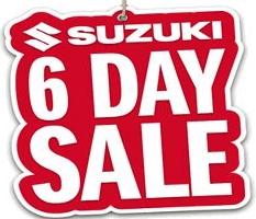 Suzuki's 6 Day Sale kicks off this weekend